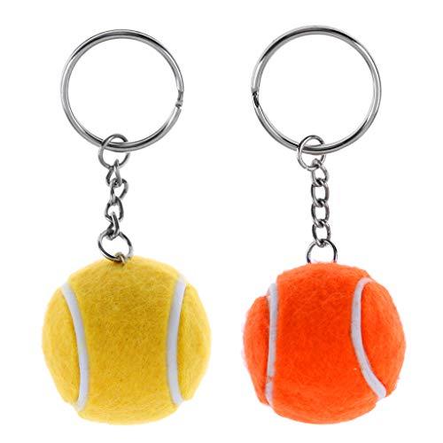 Baoblaze 2 Piezas Llavero de Pelota de Tenis para Deportista Marcador de Bolso