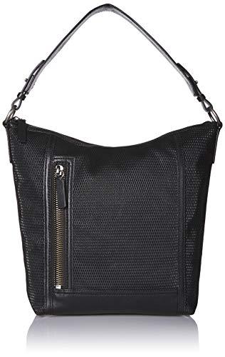 Frye Lena Leather Perf Hobo, Black