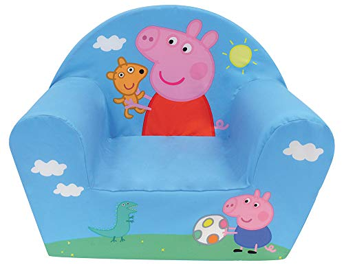 FUN HOUSE 712465 Peppa Pig Fauteuil Club Enfant Origine France Garantie, Bleu,