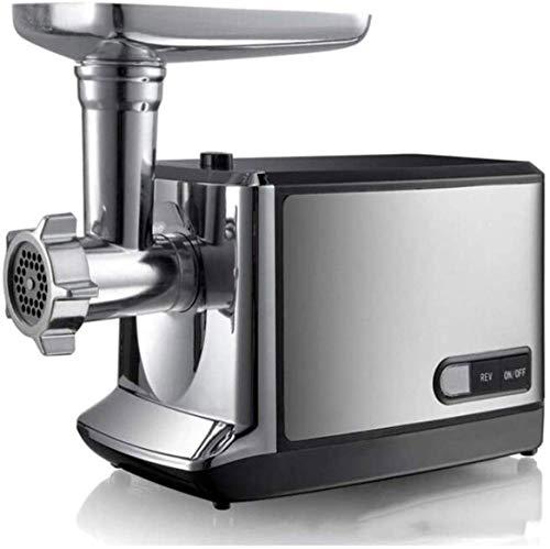 HUIXINLIANG Grinder de carne de 350W eléctrica, máquina de relleno de salchicha, amoladora de alimentos, con placas de acero inoxidable y tubos de relleno de salchicha para uso en el hogar y comercial