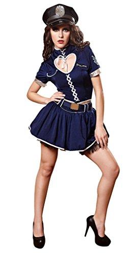 Bigood Cosplay Costume Police Déguisement Adulte Halloween L
