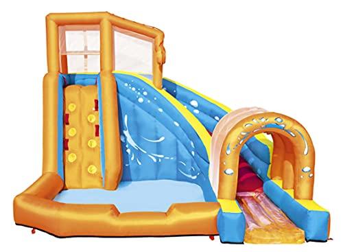 AIYIFU Castillo Hinchable con Tobogán para Niños Centro Juegos Hinchable Up Cama Elástica para Parque Patio Jardín,