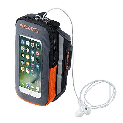 FITLETIC(フィトレティック)Forteランニングスマホアームバンド体に接する裏側は防水ネオプレーン素材iPhone6sPlus対応サイズARM-06GRY/ORGS/M