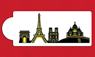 Paris Detailed Skyline Cake Stencil Side C1002 by Designer Stencils