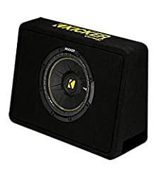 Kicker 10-Inch 600 watt vented thin profile subwoofer enclosure RMS power: 300 watts Max power: 600 watts Impedance: 4 ohm Thin profile fits perfectly under or behind a seat