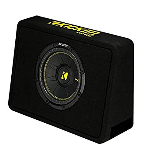 Kicker 10 600 Watt 4 Ohm Vented Thin Profile Subwoofer Enclosure | 44TCWC104
