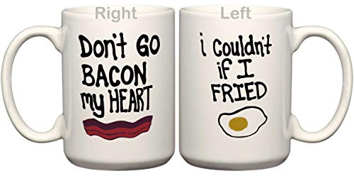 BeeGeeTees Don't Go Bacon My Heart I Couldn't If I Fried Coffee Mug (1-15 oz Mug)
