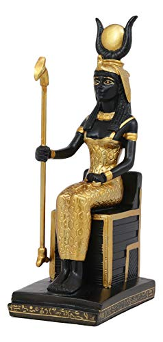 Ebros Classical Egyptian Goddess of Magic Motherhood and Life Isis Seated On Throne Statue Gods of Egypt Ruler of Mankind Decorative Figurine