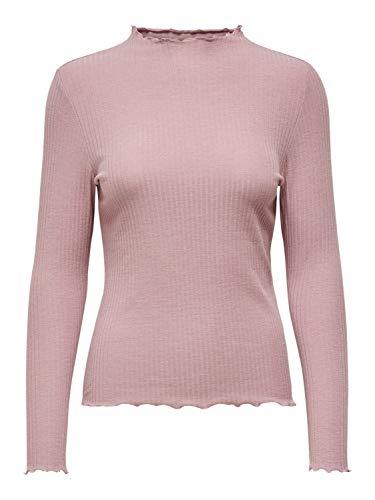 ONLY Damen Langarm Langarmshirt ONLEMMA L/S HIGH Neck Neck XS S M L XL Polyester,...