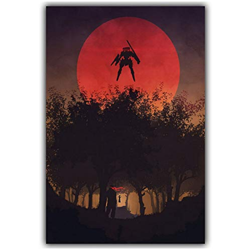 Poster Metal Gear Solid V The Phantom Pain Game Artistic Home Decor Art Poster For living Room Home Decor Gift Print en lienzo -50x70cm Sin marco