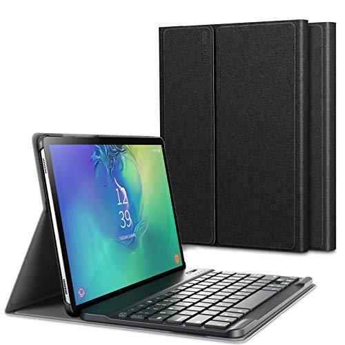 INFILAND Tastiera per Samsung Galaxy Tab S6 2019, Custodia Cover con Tastiera Staccabile Bluetooth Wireless Italiana per Samsung Galaxy Tab A S6 10,5 Pollice (SM-T860/SM-T865) 2019,Nero