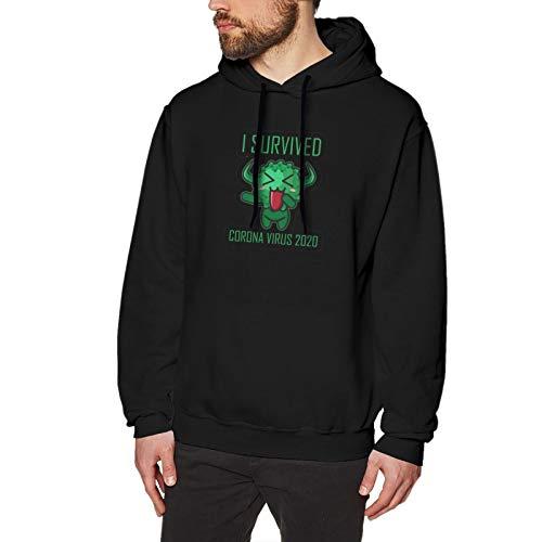 I Survived Cor&-onaVirus 2020 Hoodie Sweatshirt fashion hoodies Christmas sweater sweater Black