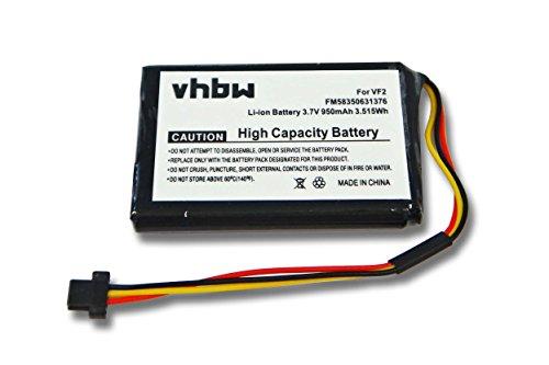 vhbw Batería Li-Ion 950mAh (3.7V) Compatible con Tomtom One 125, 125, 130, N14644 Canada 310, Traffic Europe 31 4EE0.001.03; navegador, GPS