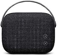 Vifa Helsinki Bluetooth Speaker, Hi-Resolution Bluetooth 4.0 Wireless Speakers, Portable Mini Speaker in Handle Bag Look, Stylish High-Performance Private Speaker with Smart APP (Slate Black)