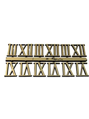 Zifferblatt Zahlen Römisch Gold 3,6,9,12 Kunststoff Wanduhr Zahlensatz Uhr Ziffern 21 mm