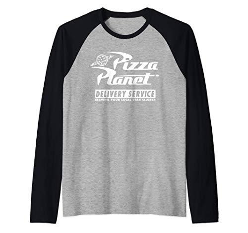 Disney PIXAR Toy Story Pizza Planet Delivery Service Camiseta Manga Raglan