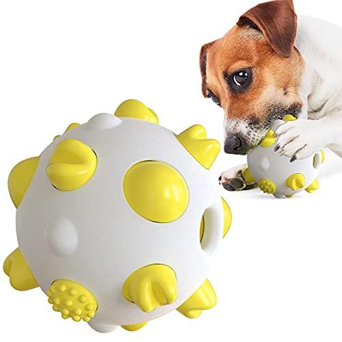 Anself Hundeball mit Zahnpflege-Funktion Hundespielzeug Ball Kauspielzeug Trainingszahn Intelligenzspielzeug für Hunde