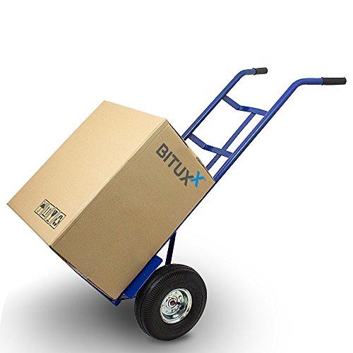 BITUXX® Sackkarre Transportkarre Stapelkarre Handkarre Sackrodel Karre Transport bis 200Kg mit Luftbereifung