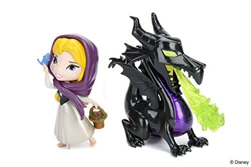 Disney Metalfigs - Juego de 2 Figuras pequeñas (10 cm), diseño de Rosas maléficas y Brillos