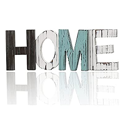Arditto Rustic Wood Home Sign Decor, Wood Home Letters, Freestanding Cutout Word Table Decor Centerpiece for Art Home Decor, Home Decor for Living Room Kitchen Housewarming Gift