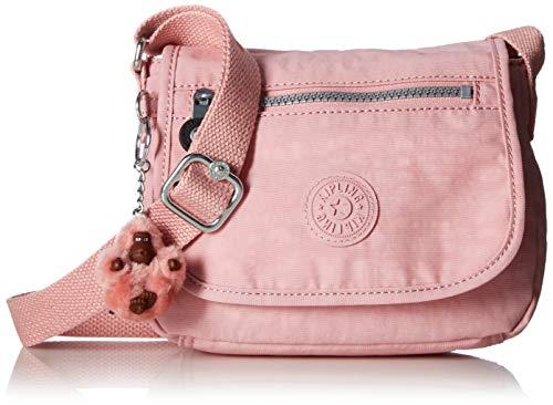 Kipling Women's Sabian Mini Crossbody, Lightweight Everyday Purse, Nylon Shoulder Bag, Strawberry Pink