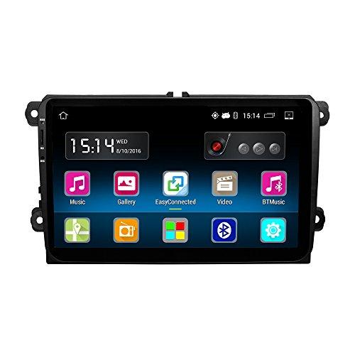 Ezonetronics Android 5.1.1estéreo 9Inch Pantalla Táctil Capacitiva Navegación GPS 1G DDR3+ 16G NAND Flash de Memoria para VW Passat, Golf Mk5Mk6Jetta T5EOS Polo Touran Asiento Sharan vwty91