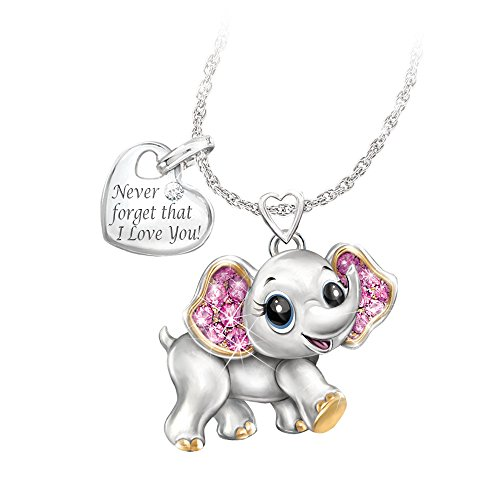'Granddaughter, Never Forget I Love You' Necklace by The Bradford Exchange