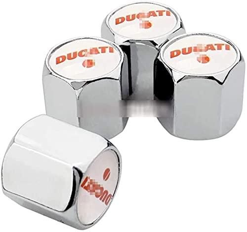 4 piezas de tapas de aire del vástago de la válvula del neumático del coche para Ducati 696 848 796 821 899 1199 Diavel Hypermotard Monster Multistrada Superbike, aleación de aluminio, antirrobo