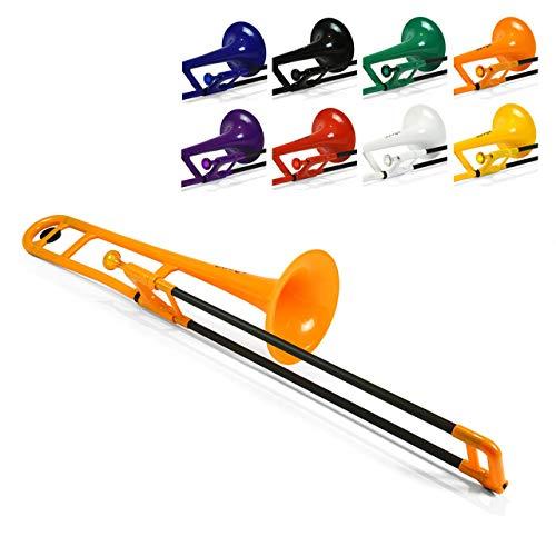 pBone PBONE1-O - Trombón de plástico, color naranja