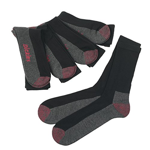 Dickies Cushion Crew-Socken, 5Paar, Schwarz Größe 40-45