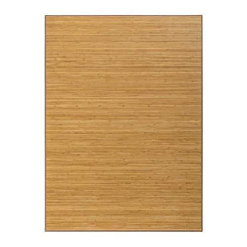 Hogar y Mas Alfombra Pasillera, Salón o Dormitorio, Madera de Bambú Natural para Interior (140x200)
