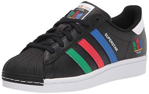 adidas Originals Superstar, Scarpe da Ginnastica. Uomo, Nero, Verde, Bianco, 43 1/3 EU
