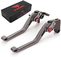 FXCNC Racing Billet Long 5D Rhombus Hollow Adjustable Brake Clutch Levers fit for Triumph DAYTONA 675 R 2011-2017, SPEED TRIPLE 1050 2011-2015, SPEED TRIPLE R 2012-2015