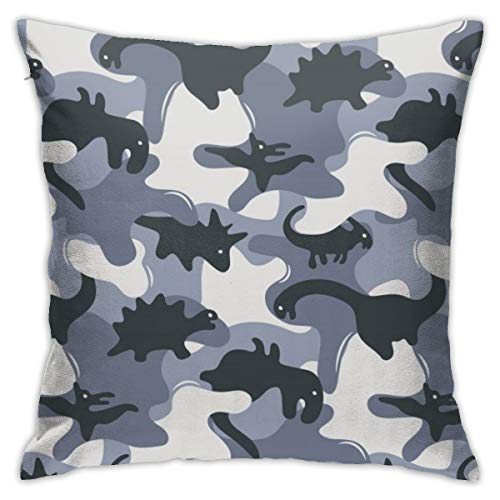 Eu Camouflage Dinosaurs Design Square Throw Pillow Case Decorative Cushion Cover Pillowcase for Sofa 18x18 Inch