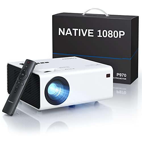 Proiettore, Nativo 1080P Videoproiettore , Mini Proiettore Portatile,7800 Lumen,Home Cinema da 300 Pollici, Compatibile con HDMI USB AV, Supporta 4k Firestick PS4 DVD PC Smartphone Altoparlante PPT