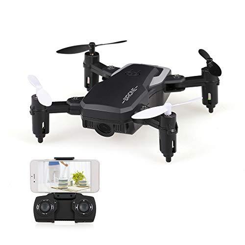Goolsky- 8810W Mini Drone con 720P Cámara Gran Angular WiFi FPV Altitude Hold RC Quadcopter para Principiantes niños de Interior Juguete de Juego Exterior