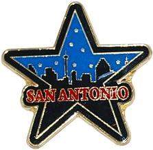 San Antonio Skyline Refrigerator Magnet Shaped Like a Classic Texas Star