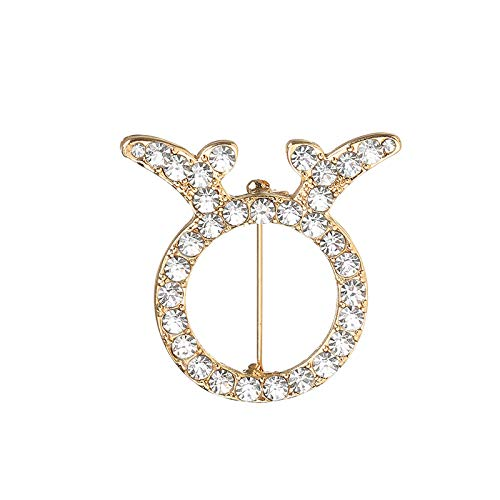 Auspicious Brooch Water Diamond Note Sweater Suit Cardigan Brooch Lady Crystal Breast Button Shawl Buckle Jewelry,Fifty