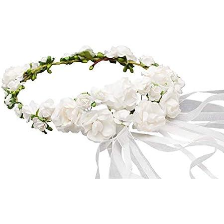 Mädchen Haarreifen Haarschmuck Kopfschmuck Hochzeit Blumenmädchen Taufe Blumen