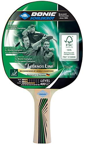 Donic-Schildkröt Raqueta de Tenis de Mesa Legends 400, Esponja de 1,6 mm, Madera FSC, Almohadilla Jade-ITTF, 705241