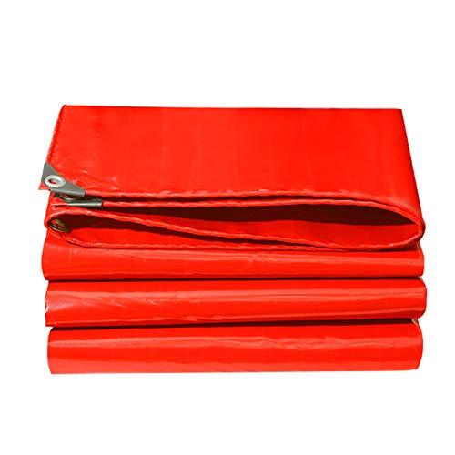 Lona Roja, Lona Impermeable para Bodas Toldo para Toldo Exterior con Ojales para Muebles De Camping Jardín 500 G/M²(Size:2×2M)
