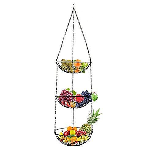 Hihey fruitmand om op te hangen, keukenlampje voor meer ruimte op je aanrecht, hangmand, keuken, fruitschaal hangend