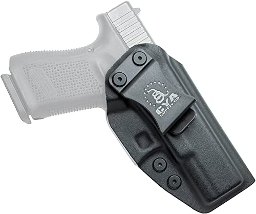 CYA Supply Co. Base Inside Waistband Holster (Black) Concealed Carry IWB Veteran Owned Company Fits Glock 19 / 19X / 44 / 45 GEN 3-5 Glock 23 / 32 Gen 3-4