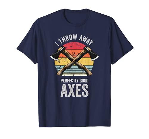 Drôle de lancer de hache rétrogradé T-Shirt
