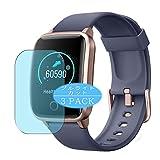 VacFun 3 Piezas Filtro Luz Azul Protector de Pantalla, compatible con LETSCOM/Lintelek ID205S 1.3' Smartwatch smart watch, Screen Protector Película Protectora(Not Cristal Templado) NEW Version