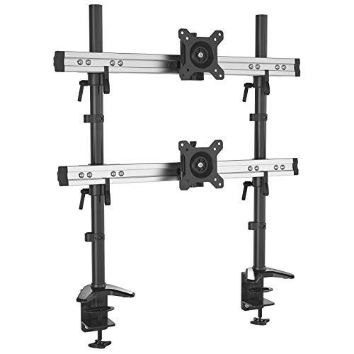 HFTEK zweifach-Monitor-Tischhalter Halterung für Bildschirme von 15 bis 49 Zoll - VESA 75/100 (MP212C)
