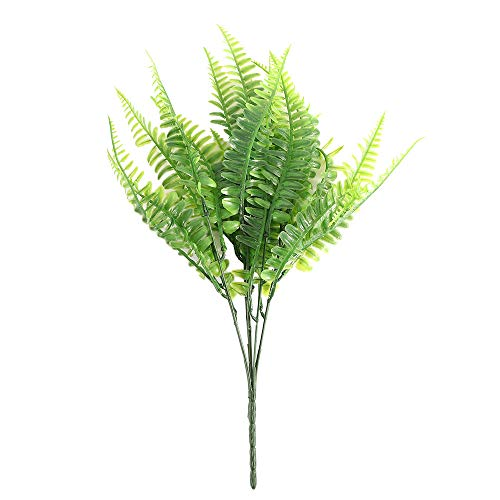 WLKK Lifelike Artificial Fern Green Plant, Simulation Fern Home Office Background Decoration, Party Supplies Floral Decor