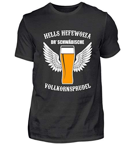 Hells Hefewoiza dr. schwäbische Vollkornsprudel Bier Bierkrug Alkohol Schwaben Geschenk - Herren Shirt -XL-Schwarz