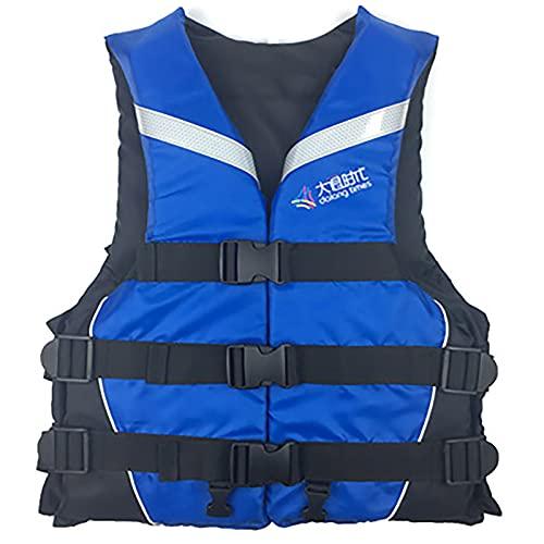 MoYoTo Chaleco De Natación Chaleco Salvavidas Evitación De Colisiones De Alta Flotabilidad con Chaleco Salvavidas De Tira Reflectante para Nadar, Pescar Y Surfear,Azul,XS