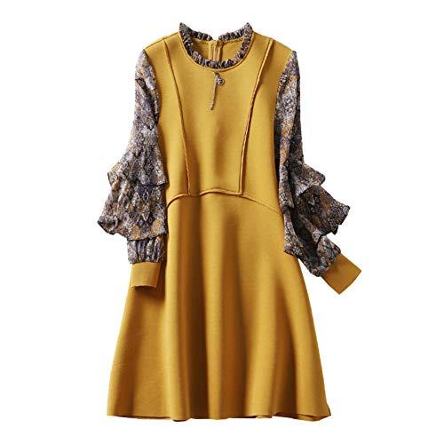BINGQZ Cocktail Jurken 2019 lente nieuwe vrouwen stiksels print jurk casual losse midi jurk